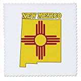 3drose QS _ 58751_ 3New Mexico State Flagge in die