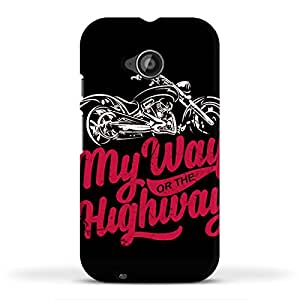 FUNKYLICIOUS Moto E2 Back Cover My way or the highway Design (Multicolour)