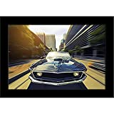 ArtzFolio Vintage Car - Small Size 12.0 Inch X 8.0 Inch - PREMIUM CANVAS Wall Paintings With BLACK FRAME : DIGITAL PRINT Wall Posters Art Panel Like Hand Paintings : Home Interior Wall Décor Photo Gifts & Decorative Paintings For Bedroom, Livin