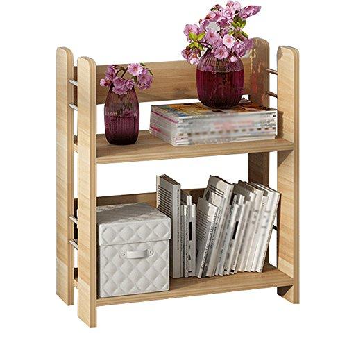 SJ Bücherregal Modern Minimalist 2-stöckigen Holzboden Stand Storage Regale Homeware Organizer Größe 50 * 26 * 60cm ( Farbe : 1# )