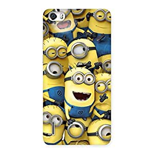 Neo World Yellow Mischief Back Case Cover for Honor 6