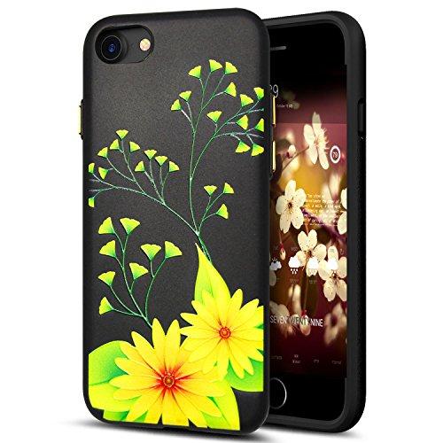 Cover iPhone 8,Cover iPhone 7,Custodia iPhone 8 / iPhone 7 Cover,ikasus® Cover custodia iPhone 8 / iPhone 7 disegno colorato TPU con 3d arte pittura floreale fiore fiori ciliegio girasole modello Cust Fiore #11