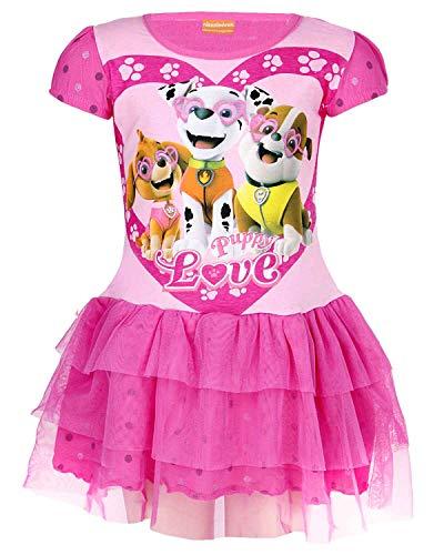 Kind Kostüm Auf Patrouille - Paw Patrol Mädchen Offiziell Lizenzierte Skye Everest Print Cotton-Kostüm-Kleid Alter 4 Jahre