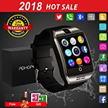 Bluetooth SmartWatch uomo android ios con Macchina Fotografica,Touchscreen Smart Watch, Orologio Intelligente,Watch Phone with Sim Card Per Android Samsung IOS Iphone 7 Plus 6 6S Uomini Donne Bambini Ragazze Ragazzi