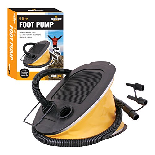 Milestone Camping-Fußpumpe - Gelb, 5 Liter