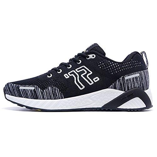 ONEMIX Atletica Degli Uomini Scarpe Da Corsa Delle Donne Sneakers Di Jogging Unisex Nero bianco