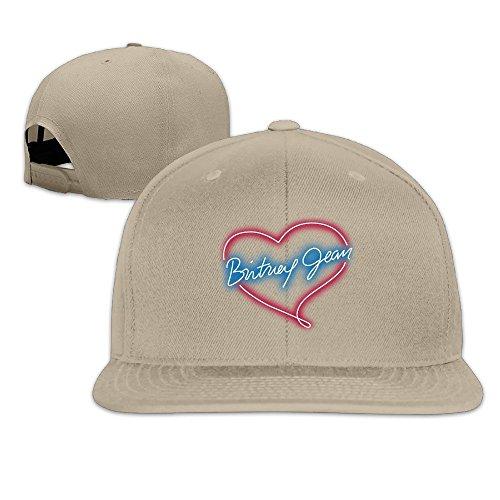 Hittings Britney Spears Unisex Fashion Cool Adjustable Snapback Baseball Cap Hat Natural -
