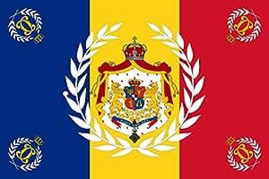 Unbekannt Flagge Romanian Army Flag - 1902 used model | Romanian Army, 1902 model | Querformat Fahne | 0.06m² | 20x30cm für Diplomat-Flags Autofahnen