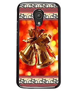 Fuson 2D Printed Christmas Bells Designer back case cover for Motorola Moto G2 - D4177