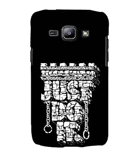 FUSON Just Do It Workout 3D Hard Polycarbonate Designer Back Case Cover for Samsung Galaxy J1 (6) 2016 :: Samsung Galaxy J1 2016 Duos :: Samsung Galaxy J1 2016 J120F :: Samsung Galaxy Express 3 J120A :: Samsung Galaxy J1 2016 J120H J120M J120M J120T