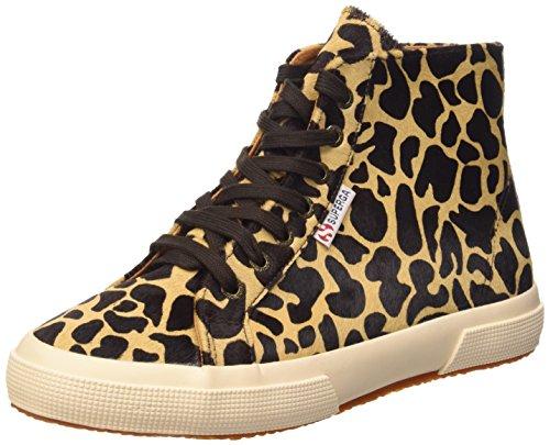 Superga 2095-Plus Leahorsew, Chaussures de Gymnastique Femme Multicolore (L77 Beige-Dk Brown Fow)