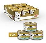 Gourmet Purina Gold Umido Gatto Mousse con Merluzzo e Delicate Carote - 24 Lattine da 85 g Ciascuna (Confezione da 24 x 85 g)