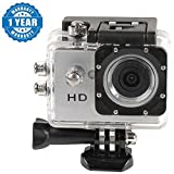 Captcha Action Camera 1080P Sport Waterproof Camcorder Outdoor Action Video Camera Compatible with Xiaomi Mi, Apple, Samsung, Sony, Lenovo, Oppo, Vivo and ALL other Smartphones (1 Year Warranty, Color May Vary)