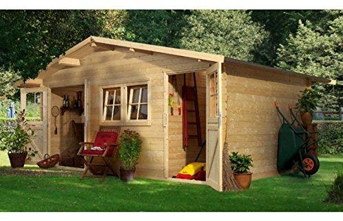 Woodfeeling Gartenhaus Radur 2 28 mm 2-Raum-Haus