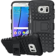 """Samsung Galaxy S7 Edge Coque Silicone, Samsung Galaxy S7 Edge Accessoires, Coque Samsung Galaxy S7 Edge silicone, Nnopbeclik® Armor Séries 2in1 Dual Layer Rigide Backcover Incassable case """"G935F"""" (5.5 Pouce) Protection Housse Antiglisse Anti-Scratch Etui """"NOT FOR S7 5.1"""" - [Noir]"""