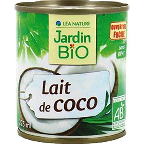 Jardin bio lait de coco bio canette métal 225ml - ( Prix Unitaire ) - Envoi Rapide Et Soignée