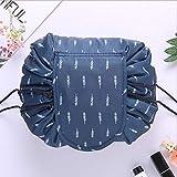 Sac cosmétique grande capacité cordon sac de rangement sac de lavage sac de voyage portable Plume marine