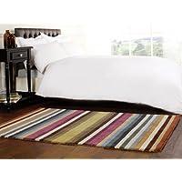 Woodland pioppo multi Colour Stripes lana 120x