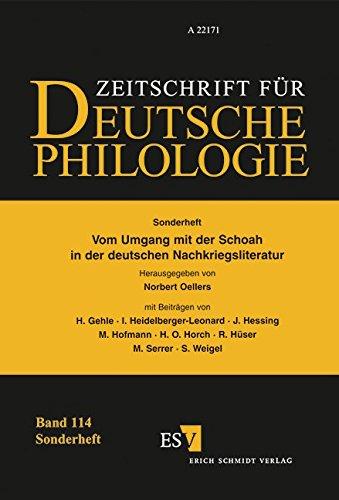 Vom Umgang mit der Schoah in der deutschen Nachkriegsliteratur (Sonderhefte der Zeitschrift für deutsche Philologie)