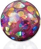 viva-adorno Piercing Schraubkugel Ersatzkugel Epoxy Multikristall Ferido verschiedene Farben und Größen Z440, 5 Pink Rainbow 1,6x6