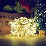 Feenhaftes Licht,100 LED Solarbetriebene Nachtschnur 10M Im Freien Wasserdichte Solardekoration Beleuchtet 2 Modi Für Weihnachtsbaum-Dekoration-Gartenhaus,C