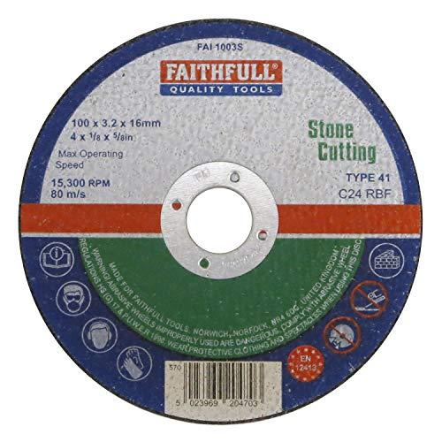 Faithfull fal1003s Cut Off Rad 100x 3,2x 16Stein -