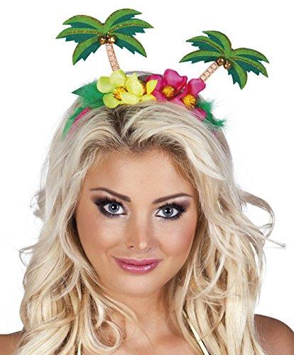 (Halloweenia - Kostüm Accessoire Motto Party Palmen Haarreif Erwachsenen Kopfschmuck, Mehrfarbig)