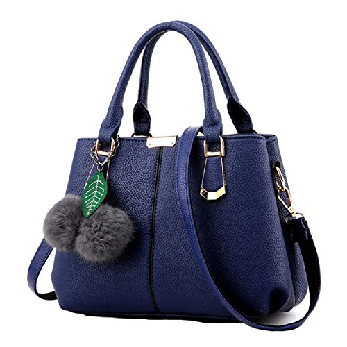 Damen Mode Wilde Handtasche Schultertasche Messenger Tasche Einfache Shell Tasche Handtaschen Blue