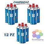 12-PEZZI-CAMPINGAZ-CARTUCCIA-GAS-BUTANO-CP-250-PER-FORNELLINI-STUFE-PORTATILI