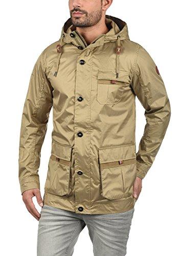 BLEND Finn Herren Übergangsjacke Kapuzenjacke aus hochwertiger  Baumwoll-Mischung Safari Brown (75115) ... 4bb598679c
