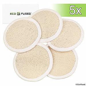 Almohadillas de esponjas (Paquete de 5) – Esponjas Exfoliantes – Material Luffa Natural – Producto esencial para el…