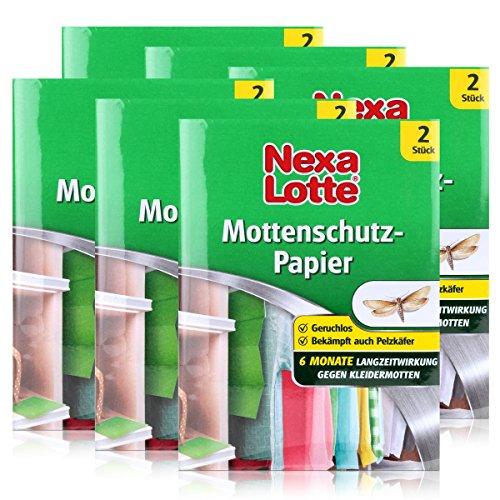 GARDOPIA Sparpaket: 6 x 2 (12 Stk) Nexa Lotte Mottenschutz + Gardopia Zeckenzange mit Lupe