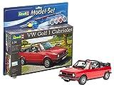 Revell Modellbausatz Auto 1:24 - Volkswagen VW Golf 1 Cabriolet im Maßstab 1:24, Level 4, originalgetreue Nachbildung mit vielen Details, , Model Set mit...