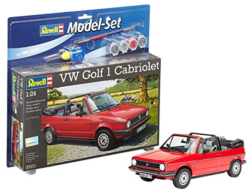 Revell - Maqueta Modelo Set VW Golf 1 Cabrio, Escala 1:24  (67071)