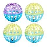 POPETPOP 4pcs Mini clochettes en Plastique de Couleur Assorties pour Chien Chiot Jouant (Couleur aléatoire)