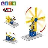SEIGNEER 3 IN 1 Mechanisch gesteuertes Windmühle Modell-Bausteinset 50 Teile …