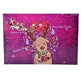 MJARTORIA Damen Schmuck Adventskalender Weihnachtskalender Adventszeit mit 24 Überraschungen Kette Freundschaftskette Armband Charms Anhänger Weihnachten Ohrringe (Davidshirsch)