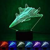 Wmshpeds F-20 chasseur léger de nuit 3D LED intelligent maison lumières lampe colorée cadeau atmosphère en trois dimensions...