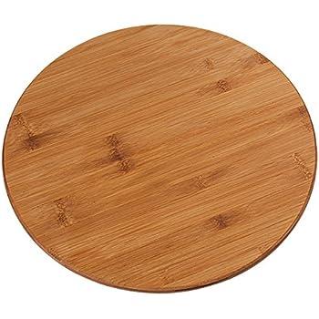 Drehteller aus Buchenholz Holz Drehplatte Servierteller Drehbrett Servier Platte