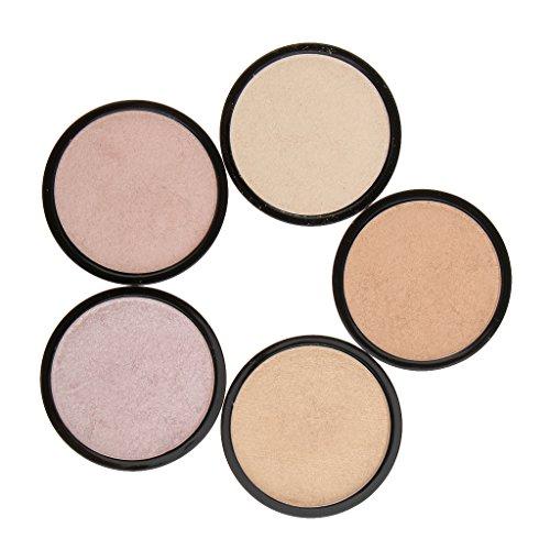 perfk Palette de Maquillage à Poudre Fond de Teint Cache Cernes Surligneur Illuminateur Contour du Visage Nez Yeux
