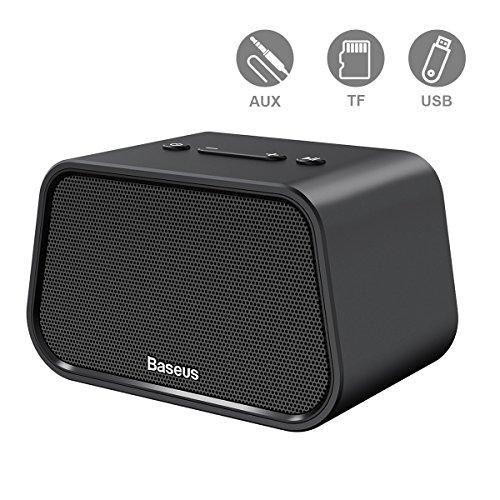 Baseus Bluetooh Lautsprecher Tragbarer Mini Lautsprecher Musik Box Micro TF Kartenslot, 3,5mm Audio, USB Steckplatz (Sd-karte, Mini-lautsprecher, Tf-steckplatz)