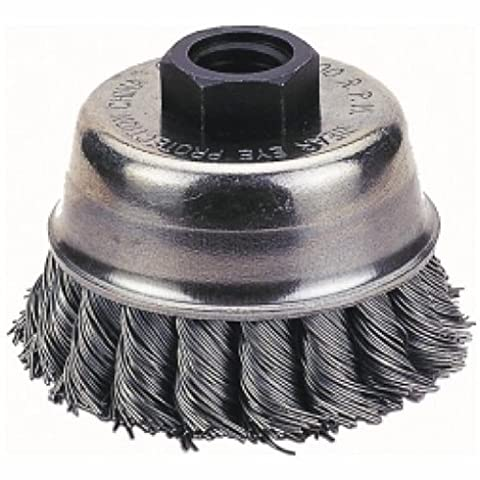 Firepower 1423-2115 Knot Type Wire Cup Crimped Wire Brush with 5/8-Inch Threaded Arbor and 4-Inch Cup Diameter by FirePower