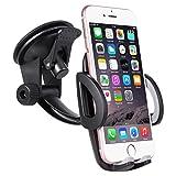 Support Téléphone Voiture Ventouse Automobile - SURWELL Support Téléphone Universel Rotation à 360° Support Smartphone Voiture Support iPhone Voiture Pare-brise Réglable Tableau de bord GPS Compatible avec les phones en largeur de 48mm-95mm (1.9-3.7 pouces)