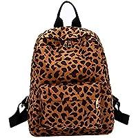 WANGYUO Estudiante Mochila Bolso Mujer Felpa Bolso Personalizado Moda Casual Bolso De Estudiante Mochila De Felpa De Leopardo