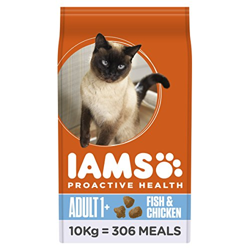 Iams ProActive Health Complete and Balanced Cat Food with Ocean Fish and Chicken, 10 kg