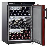 WKr1811 LIEBHERR Cave à vin de vieillissement 128L net, +/- 66 bouteilles, 60cm, H=89cm, A+, noir/rouge ( WKr 1811-21 )