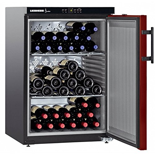 Liebherr WKr 1811 Freestanding Black 66bottle(s) A+ wine cooler - Wine Coolers (Freestanding, Black, Stainless steel, 3 shelves, 1 door(s), Steel)
