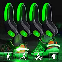 WenderGo 4PCS LED Shoe Clip Light,Running Lights for Runners Shoes,Flashing Safefy Night Gear for Running Jogging Cycling Walking