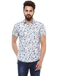 Mufti Men's Cotton Shirt (White, Large)