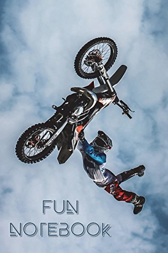 Fun Notebook: Boys Books - Mini Composition Notebook - Ages 6 -12  - Dirt Bike Jump